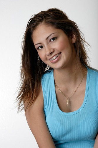 Young Girl with Braces John A Gerling DDS MSD McAllen TX