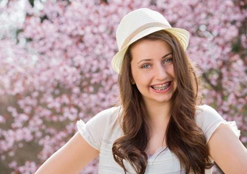 Girl in Hat John A Gerling DDS in McAllen TX