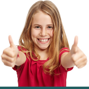 Blonde girl with Beautiful Smile McAllen Orthodontic Group McAllen TX